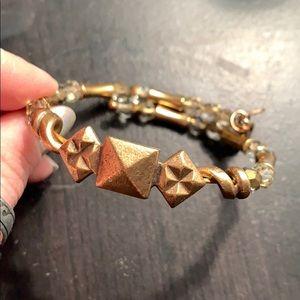 Alex and Ani Pyramid Stud Wrap Bracelet